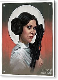 Carrie Fisher Acrylic Print by Andre Koekemoer