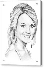 Carrie Underwood Acrylic Print by Murphy Elliott