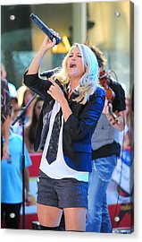 Carrie Underwood On Stage For Nbc Today Acrylic Print