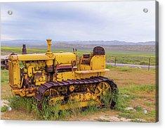 Acrylic Print featuring the photograph Carrizo Plain Bulldozer by Marc Crumpler
