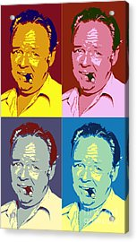 Carroll O'connor Pop Art Poster Acrylic Print by Pd