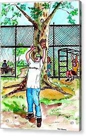 Carroll Park Was A Favorite Playground For The Neighborhood Kids Acrylic Print