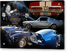 Carroll Shelby Tribute Acrylic Print by Bill Dutting