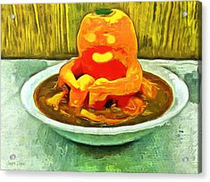 Carrot Bath Time - Da Acrylic Print