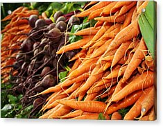 Carrots And Beets Acrylic Print by Cathie Tyler