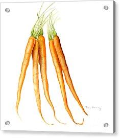 Carrots Acrylic Print by Fran Henig