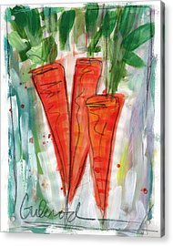 Carrots Acrylic Print by Linda Woods