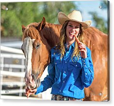 Carrots,cowgirls And Horses  Acrylic Print