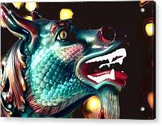 Carrousel Dragon Horse Acrylic Print by Diane Merkle