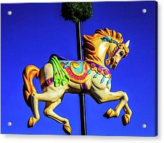 Carrousel Sign Acrylic Print