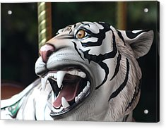 Carrousel Tiger Acrylic Print by Diane Merkle