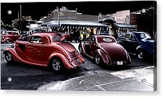 Cars On The Strip Acrylic Print