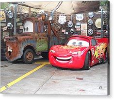 Cars Acrylic Print by Vicki Lomay