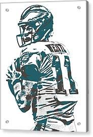 Carson Wentz Philadelphia Eagles Pixel Art 9 Acrylic Print