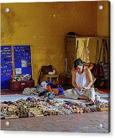 Cartagena Business Woman Acrylic Print