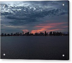 Cartagena Colombia At Sunset Acrylic Print by Janet  Hall