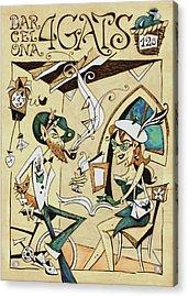 Cartell 120 Aniversari Restaurant Els Quatre Gats Barcelona Acrylic Print