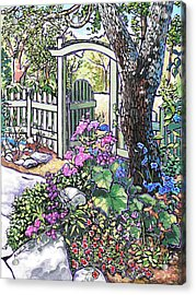 Acrylic Print featuring the painting Carter Garden by Nadi Spencer