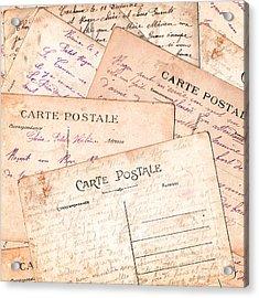 Cartes Postales Acrylic Print