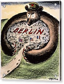 Cartoon: Cold War Berlin Acrylic Print by Granger