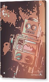 Cartoon Cyborg Robot Acrylic Print by Jorgo Photography - Wall Art Gallery