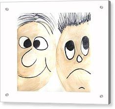 Cartoon Faces Acrylic Print by Hema Rana