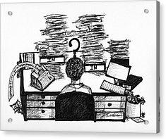 Cartoon I Dare You Acrylic Print