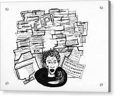 Cartoon Inbox Acrylic Print