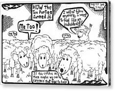 Cartoon Maze On How The Tea Parties Formed By Yonatan Frimer Acrylic Print by Yonatan Frimer Maze Artist