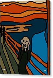 Cartoon Scream Acrylic Print by Jera Sky