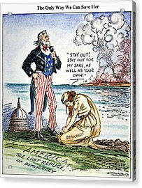 Cartoon: U.s. Intervention Acrylic Print by Granger
