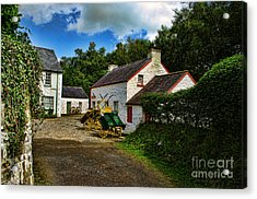 Cartwheel Cottages Acrylic Print by Kim Shatwell-Irishphotographer