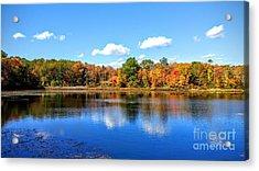 Carver Pond Bridgewater Ma Acrylic Print
