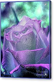 Acrylic Print featuring the photograph Carved Rose by Lance Sheridan-Peel