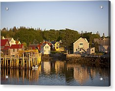 Carvers Harbor At Sunset, Vinahaven, Maine Acrylic Print