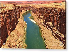 Carving The Canyon Acrylic Print
