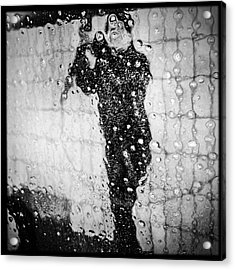 Carwash Cool Black And White Abstract Acrylic Print by Matthias Hauser
