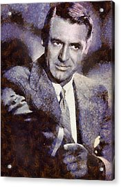 Cary Grant Hollywood Actor Acrylic Print by Esoterica Art Agency