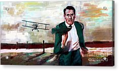 Cary Grant North By Northwest Crop Duster Acrylic Print