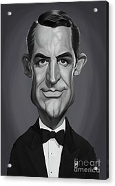 Acrylic Print featuring the digital art Celebrity Sunday - Cary Grant by Rob Snow