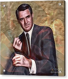 Cary Grant - Square Version Acrylic Print