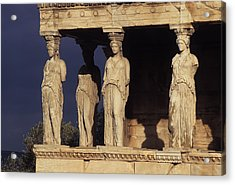 Caryatides At The Acropolis Acrylic Print