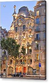 Casa Batllo Barcelona  Acrylic Print by Marek Stepan