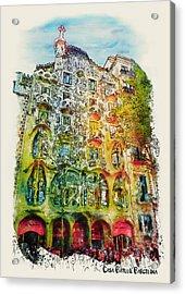 Casa Batllo Barcelona Acrylic Print by Marian Voicu