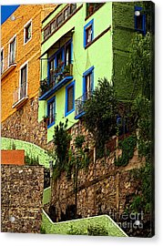 Casa Lima On The Hill Acrylic Print by Mexicolors Art Photography