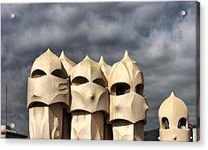 Casa Mila Masks Acrylic Print