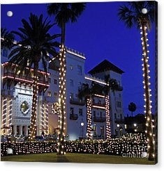 Casa Monica Inn Night Of Lights Acrylic Print