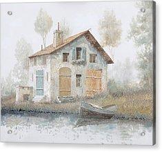 Casa Pallida Nella Nebbia Acrylic Print by Guido Borelli