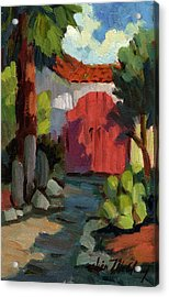 Casa Tecate Gate Acrylic Print by Diane McClary
