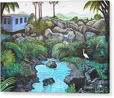 Casa Tropical Acrylic Print by Juan Gonzalez